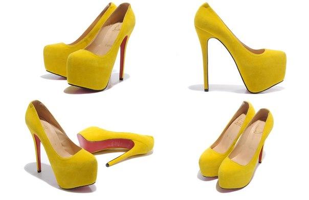 Лабутены желтые